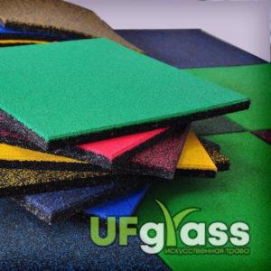 Резиновая плитка для склада 500х500х20 мм