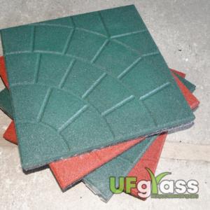Резиновая плитка для спортивных площадок «Паутинка» 350х350х30 мм