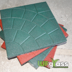 Резиновая плитка для улицы «Паутинка» 350х350х30 мм